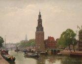 Stadsgezicht Amsterdam met Montelbaanstoren