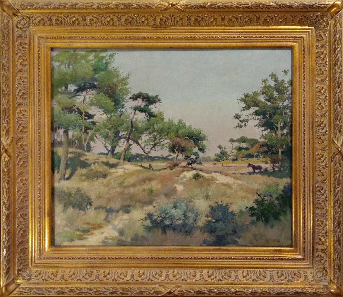 Louis Bron - Een zonnige dag achter de duinen