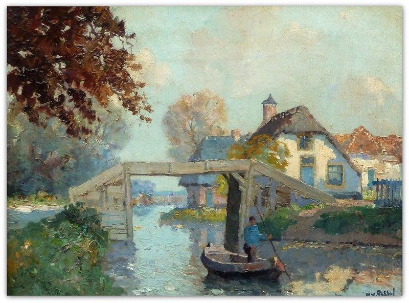 Gerard Delfgaauw - Bruggetje te Giethoorn