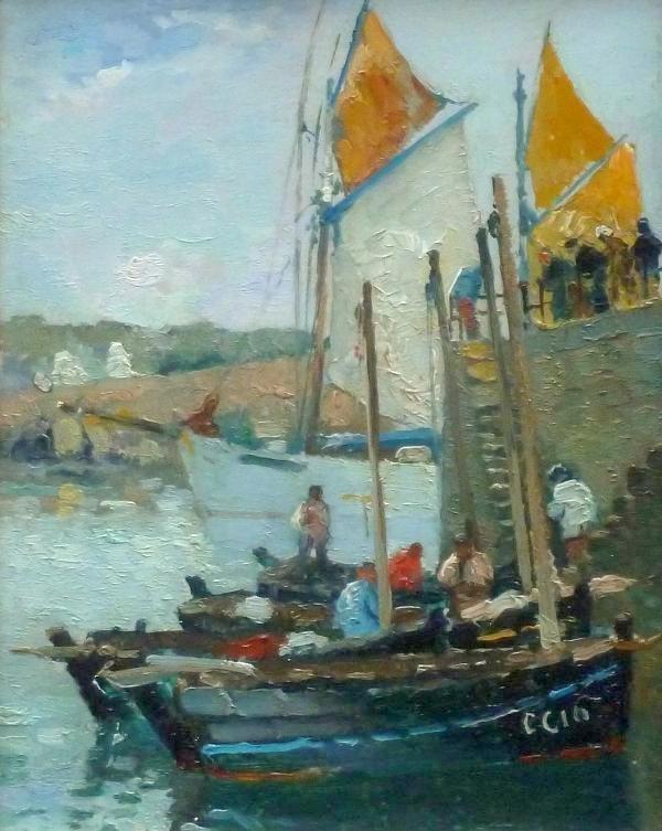 Willem (W.A.) Knip - Haven van Concarneau