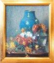 Bloemstilleven met Turquoise vaas