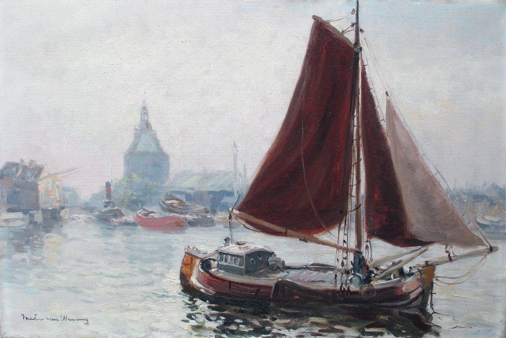 Martin van Waning - Martin van Waning: Voor de haven van Enkhuizen