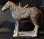 Yuan Dynastie paard met zadel (1279-1368)